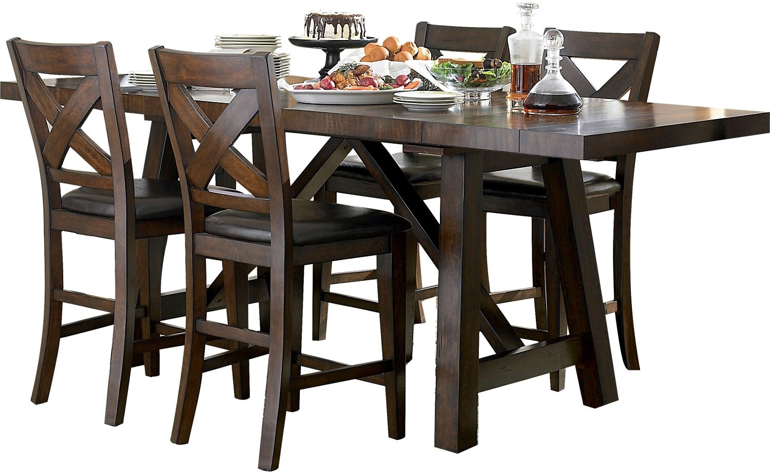 Adara 5-Piece Counter-Height Dining Package - Rectangle ...
