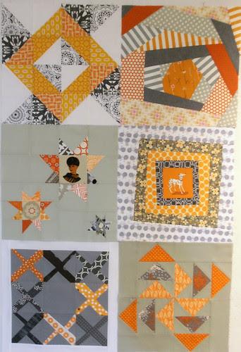 4x5 modern quilt bee - Q4, Hive 1 blocks received!
