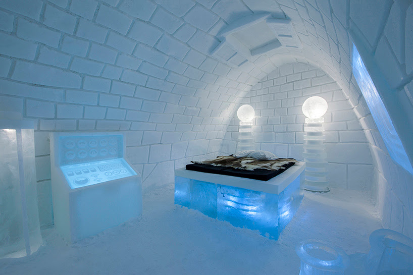 pinpin studio freezes it's alive! art suite for swedish icehotel