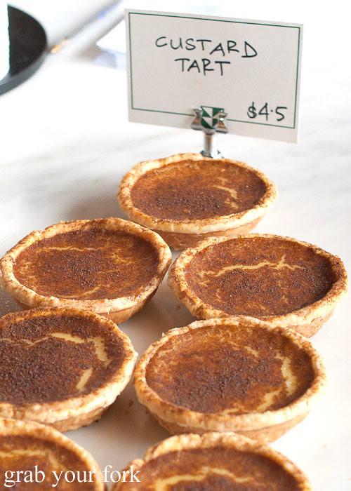 custard tart at brickfields chippendale