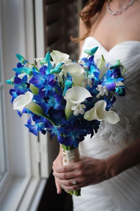 Bride's Gorgeous Hand Tied Bouquet Featuring: White Calla