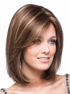 Shoulder Length Straight Bob Lace Front Wig Synthetic Bob Wigs P4