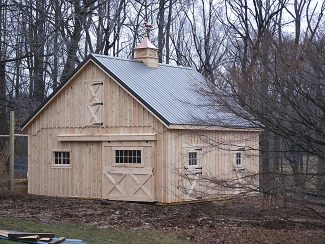 Tutor chapter pole barn plans 24x24 for Pole barn material list free