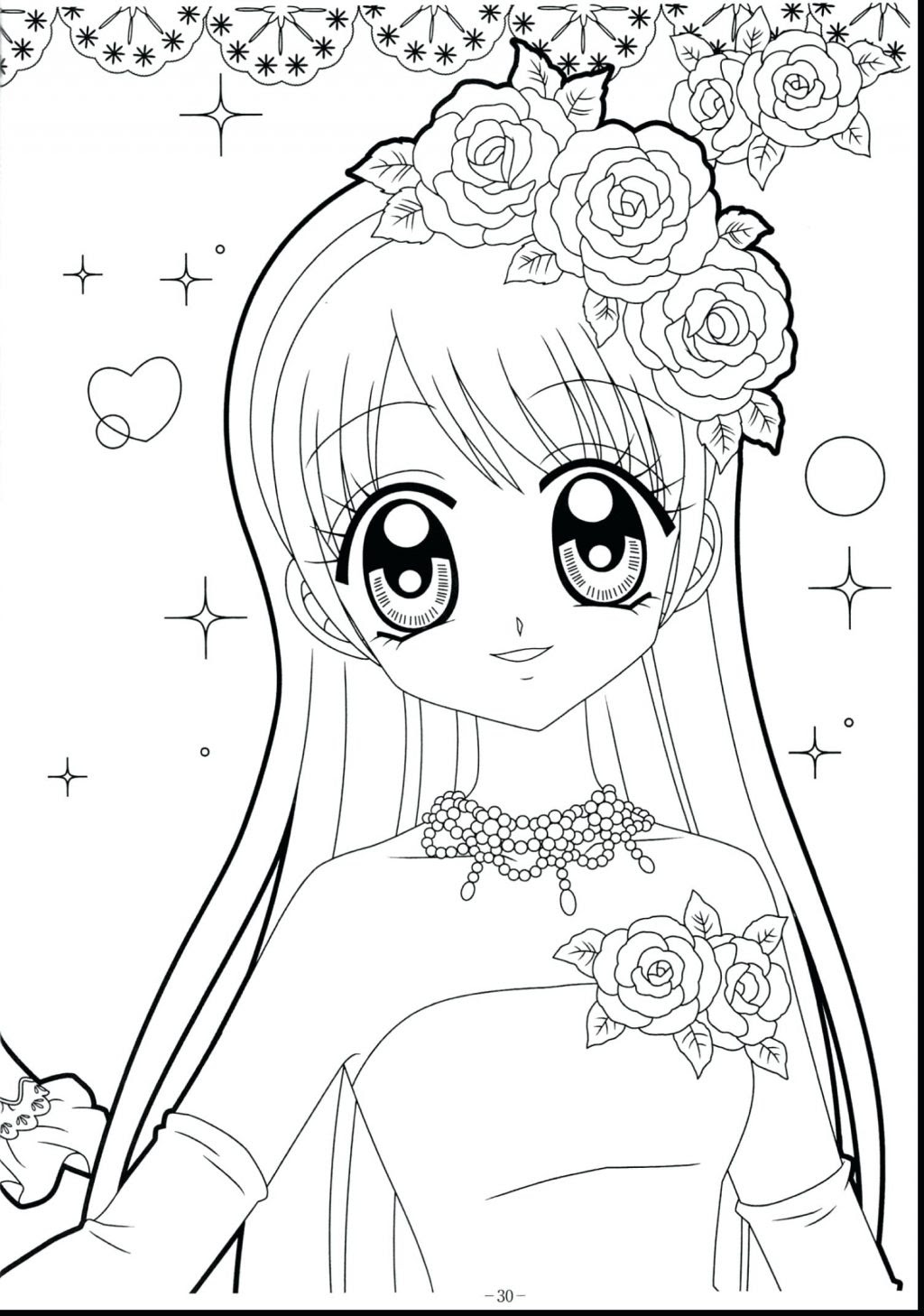Anime Coloring Pages Printable Girls Coloring And Drawing