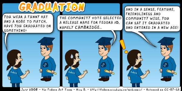 [fedora webcomic: graduation]