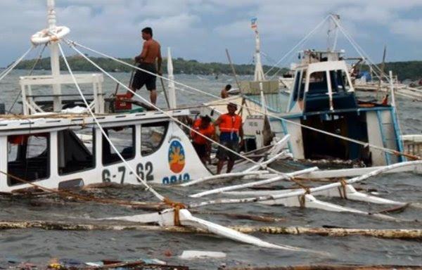 Западно-филиппинское побережье пострадало от нагонной волны