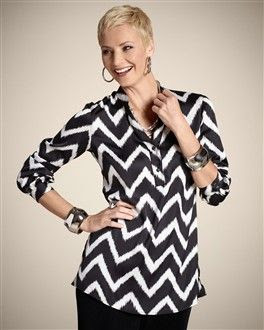 Chico'a Travelers Collection Crazed Print Krista Top