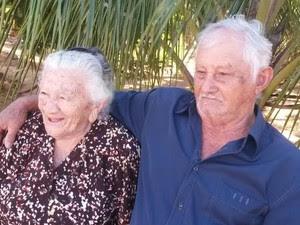 Casal do Sertão estão juntos há 70 anos (Foto: Marcondes/ Arquivo pessoal)