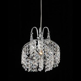 Warehouse of Tiffany 1-Light Crystal Chandelier