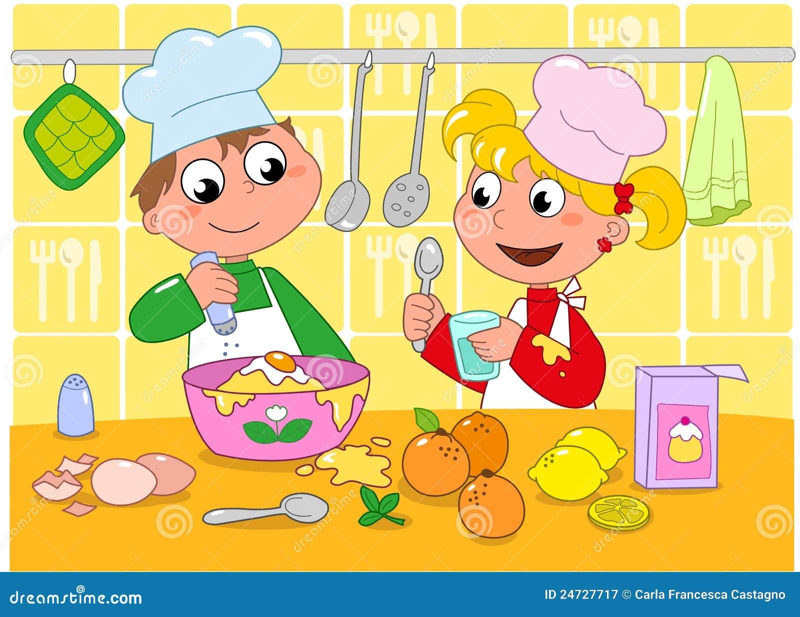 boy girl cooking 24727717