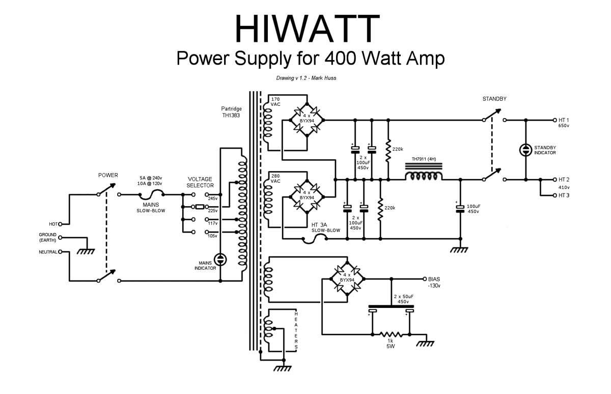 scematic machine inside  diagram power 400 watt