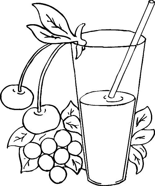 Alimentos Para Colorear Pintar E Imprimir