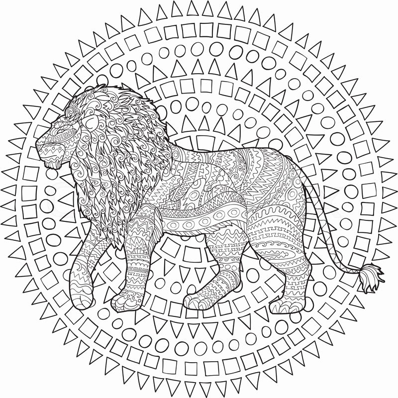 Lion Coloring Pages For Adults at GetColorings.com | Free ...