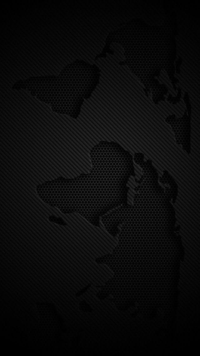World Map Dark Iphone 5s Wallpaper Choose More In