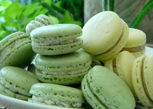 Fresh Mint Macarons and Tamarind Pineapple Macarons