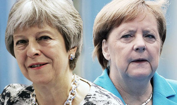 BREXIT FURY: Shock claim May said plan 'can't be changed because MERKEL has cleared it'