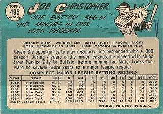 #495 Joe Christopher (back)