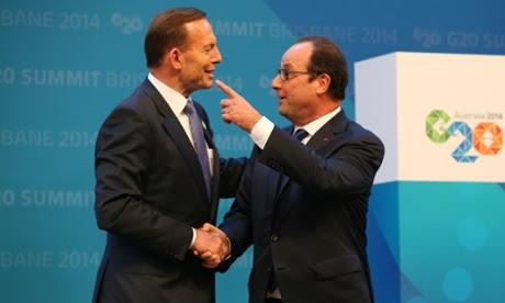 Hollande meets Abbott.