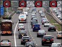 Traffic on the M42