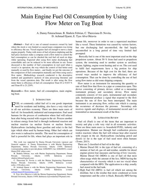 (PDF) Main engine fuel oil consumption by using flow meter