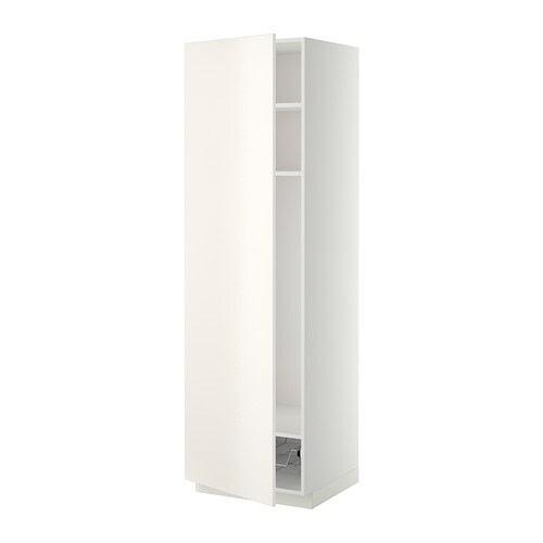 METOD Högskåp med hyllplan/trådback IKEA Du kan anpassa avstånden efter behov, eftersom hyllplanet är flyttbart.