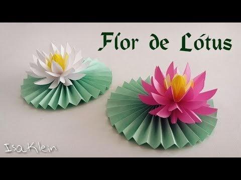 Flor de Lótus em Origami - YouTube   360x480