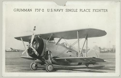 Grumman F3F-2 U. S. Navy single place fighter