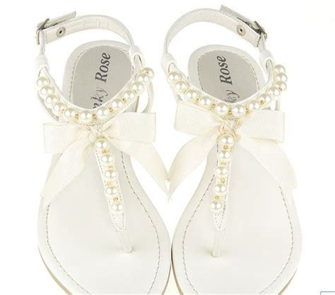 flat sandal wedding shoesBuy Fashion Pearl Embellished