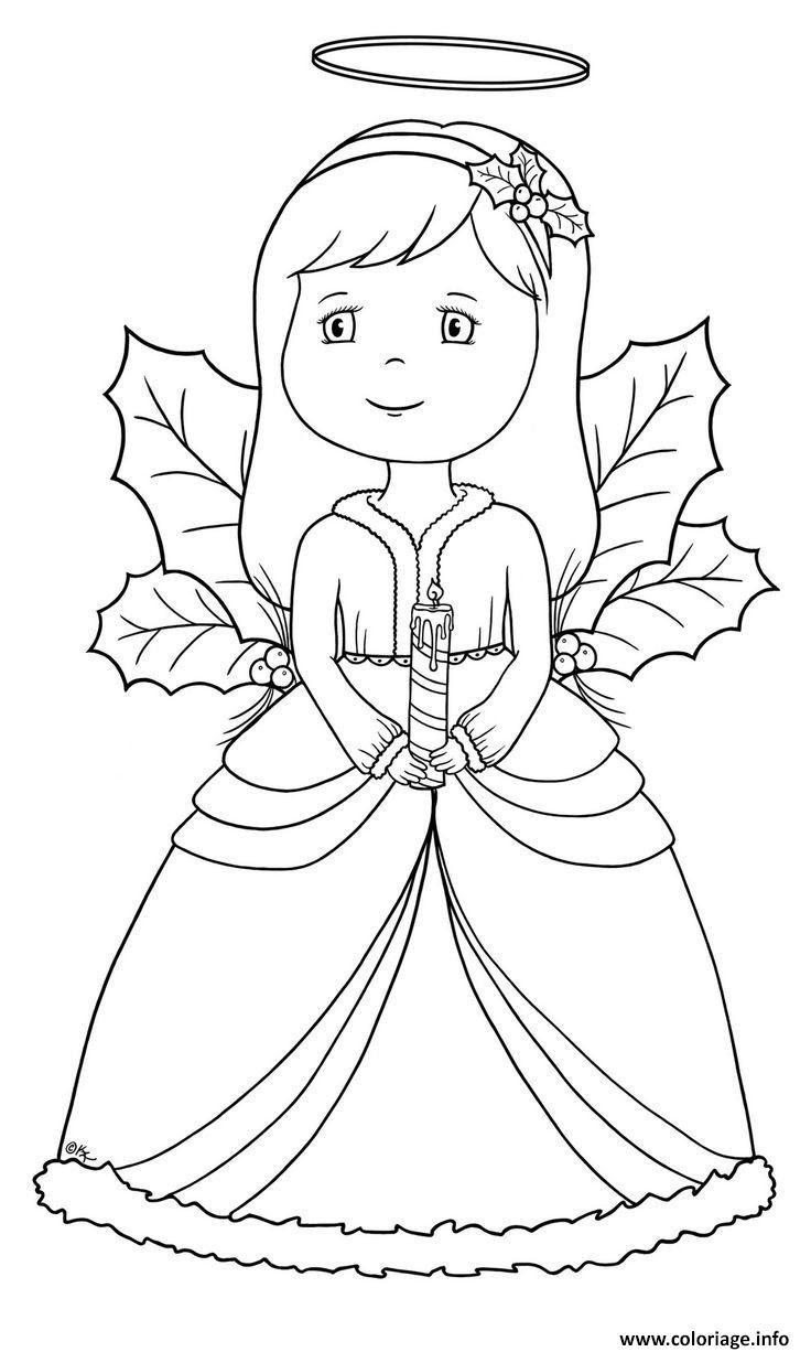 Coloriage Ange De Noel 49 Dessin  Imprimer