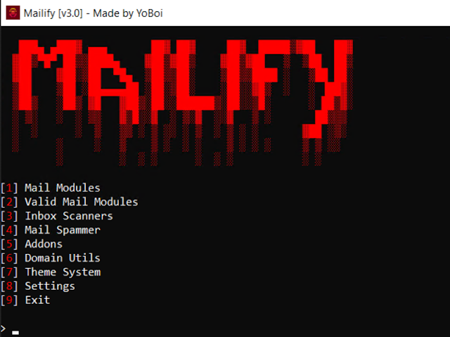 Mailify v3.0 By YoBoi | 18 April 2021