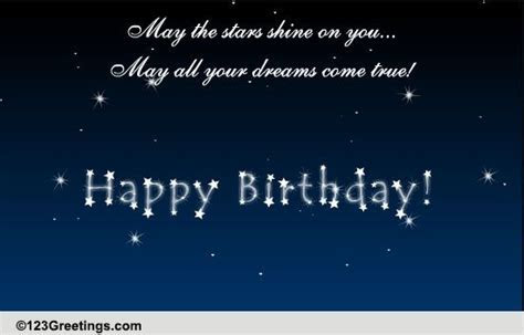 May The Stars Shine On You. Free Happy Birthday eCards