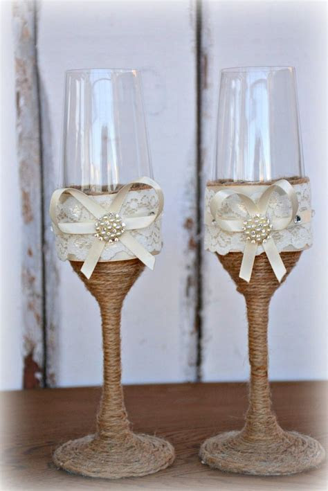 Amazon.com: Wedding Champagne Glasses Flutes Tosting