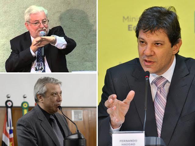 Gilberto Natalini, Covas Neto  e Fernando Haddad