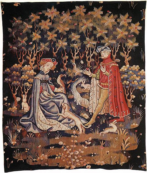 File:Tapestry by unknown weaver - The Offering of the Heart - WGA24173.jpg