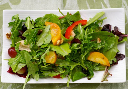 Mesclun, Chicken, and Grape Fall Salad