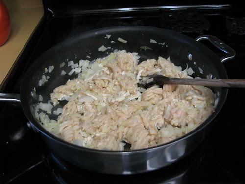 cooking the chicken