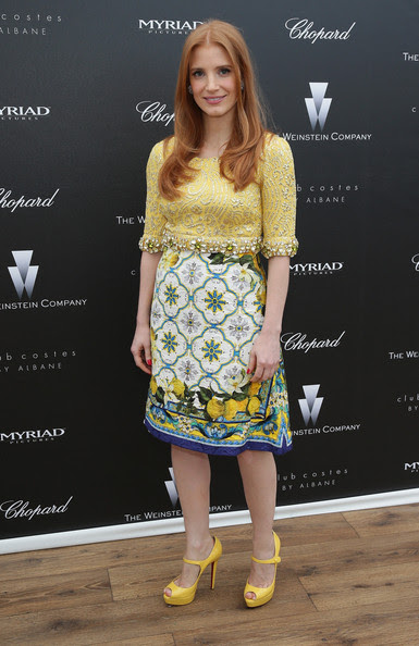 Jessica Chastain - The Disappearance Of Eleanor Rigby 67th Cannes Film Festival Pre-Screening Reception Hosted By The Weinstein Company, Myriad Pictures & Chopard At Albane by Costes JW Marriott - 67th Annual Cannes Film Festival