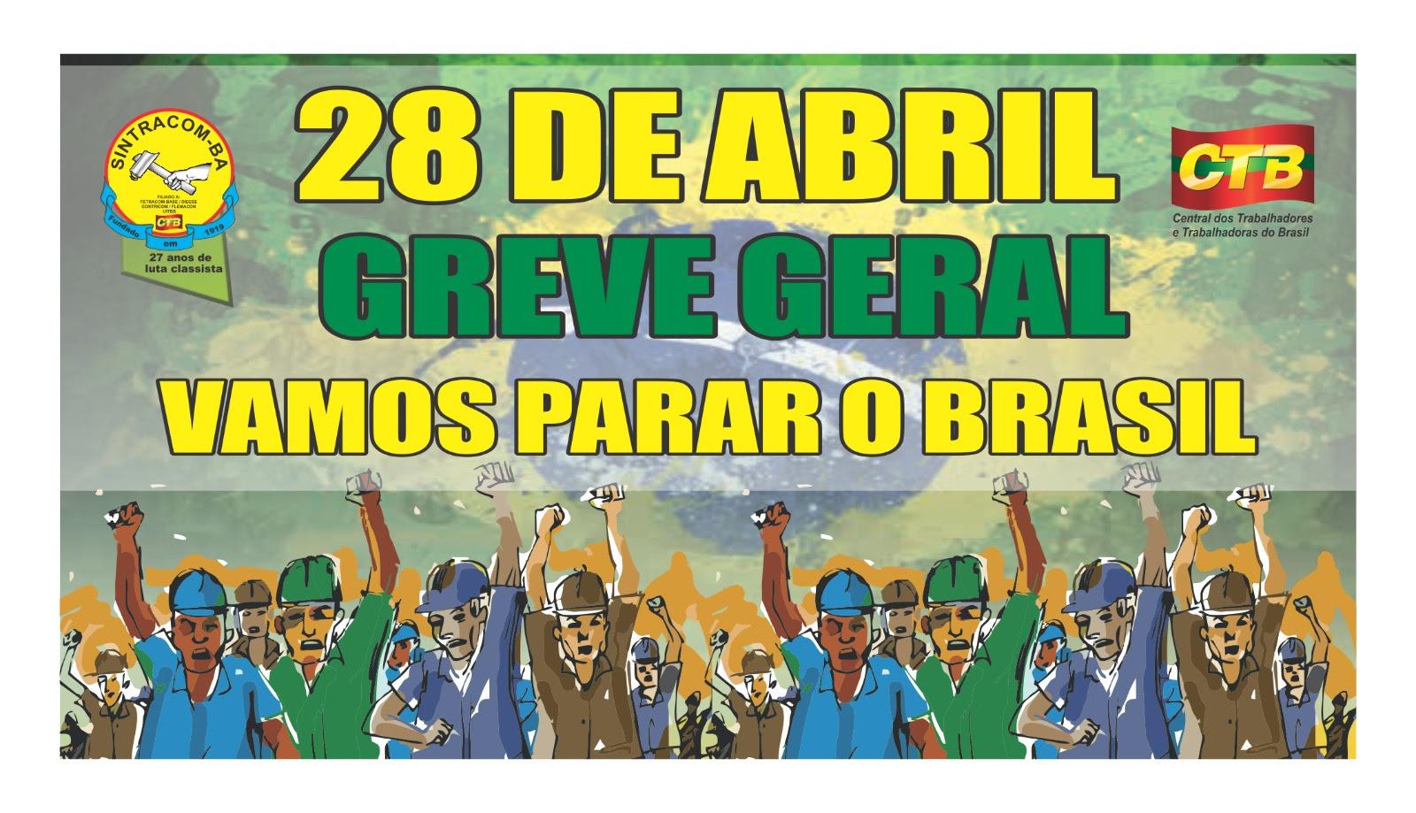 Resultado de imagem para greve geral 28 de abril