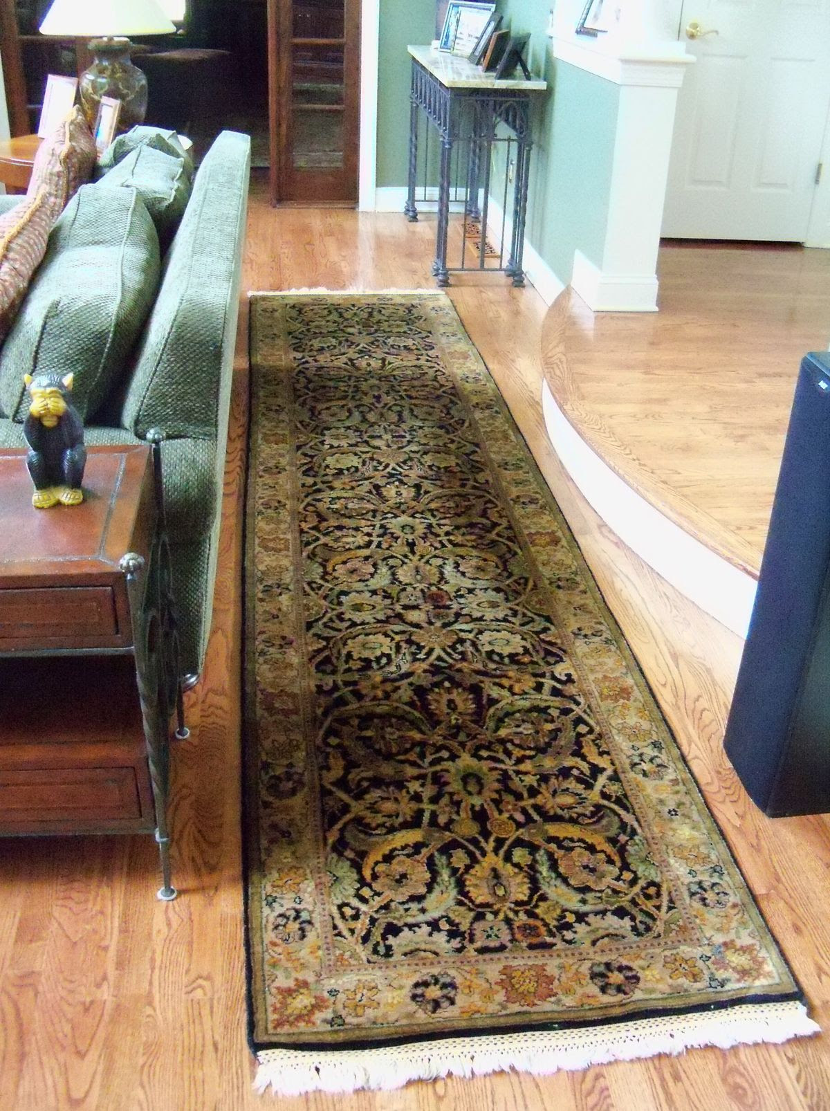 Homeowners In Basking Ridge NJ Complete Living Room Makeover With New Oriental Rugs From Brandon BrandonRugs Located Bucks