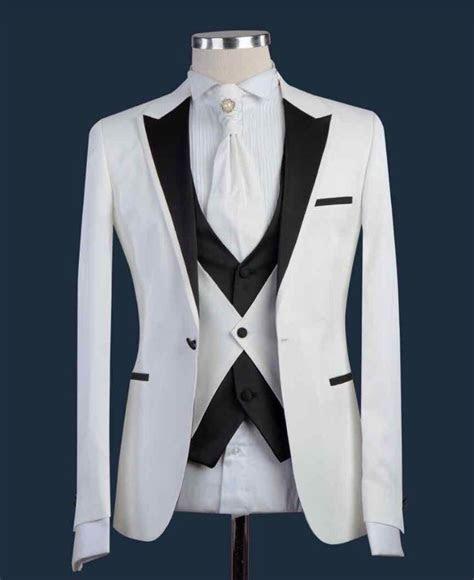 Latest Coat Pants Designs 2018 white Wedding men Suit