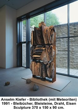 Anselm Kiefer - Bibliothek (mit Meteoriten) 1991 by artimageslibrary