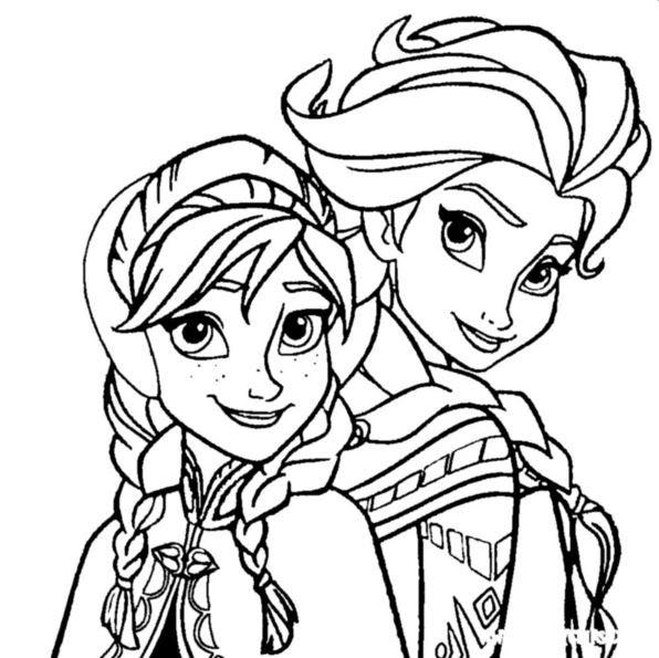 Kidsnfun.de 17 Ausmalbilder von Die Eisk\u00f6nigin Anna und Elsa