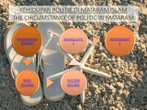 Kehidupan Politik di Mataram Islam