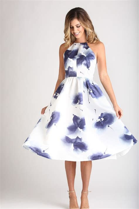 Best 25  Flare dress ideas on Pinterest   Blue and white