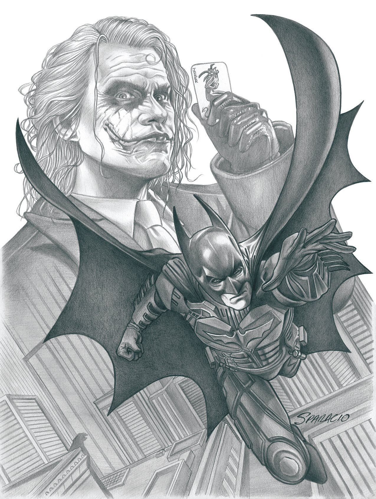 The Dark Knight and The Joker by Mark Sparacio
