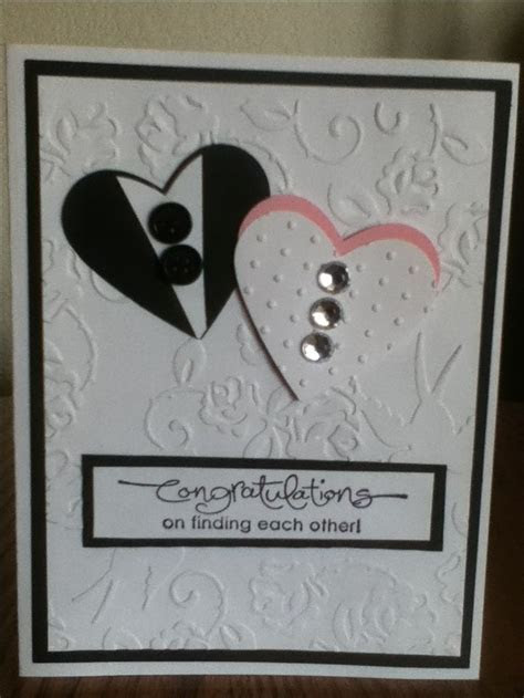 Embossed Wedding congratulations card   D.I.Y   C.O.N.G.R