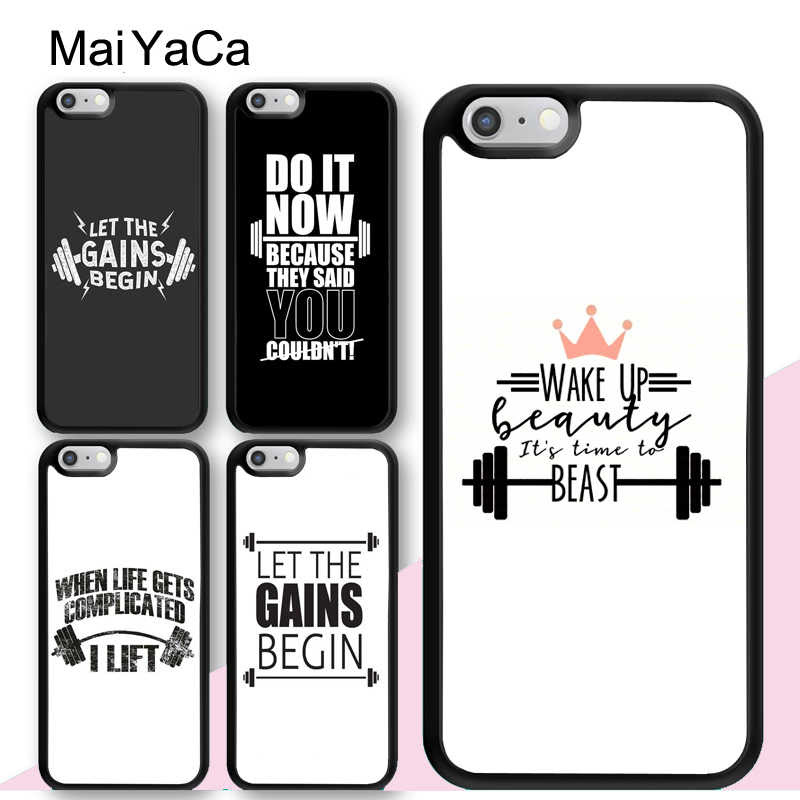 Maiyaca Workout Motivation Fitness Gym Quotes Case For Iphone 12 Mini 11 Pro Max X Xr Xs Max Se 2020 6s 7 8 Plus 5s Cover Aliexpress