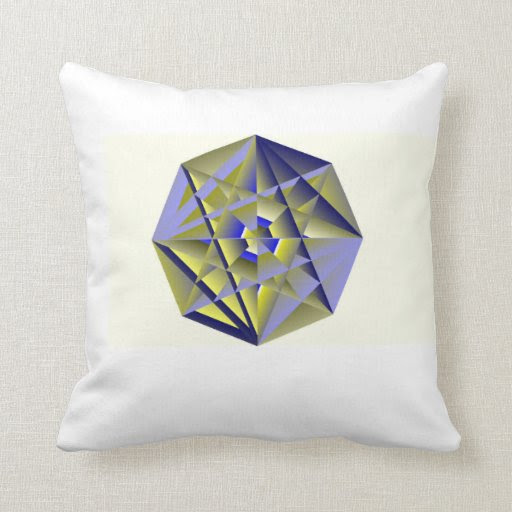 Digital Medallion Throw Pillow
