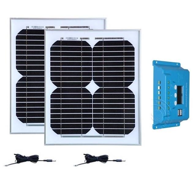 Dokio Brand Solar Battery Flexible Solar Panel 50w 12v 24v Controller 10a Sola Solarenergie