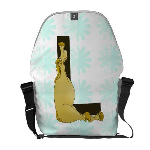 Monogram L Flexible Horse Personalised Messenger Bags